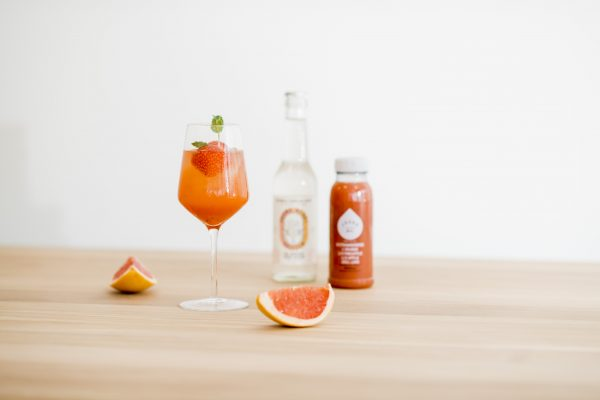 Ruby Seltzer Cocktail